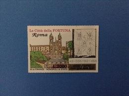 GRATTA E VINCI USATO L. 2000 LE CITTÀ DELLA FORTUNA ROMA - Lottery Tickets
