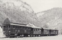 Lok 2093.1 Mit Zug GW 13 In Stiegengraben-Ybbstalerhütte,24.8.1957,ungelaufen - Trains