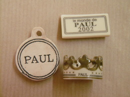 """Lot De Fèves Boulangerie """"PAUL"""" Pendentif Porte-Bonheur, Le Monde De Paul, La Couronne De La Galette Des Rois - Charms"""