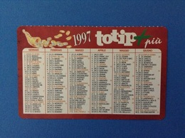 1997 CALENDARIETTO CALENDARIO TOTIP PIÙ - Calendari