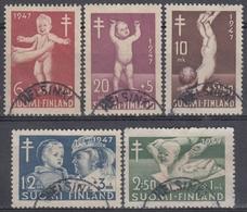 FINLANDIA 1947 Nº 326/30 USADO - Finlandia
