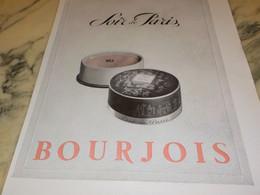 ANCIENNE PUBLICITE PARFUM SOIR DE PARIS  DE  BOURJOIS 1940 - Perfume & Beauty