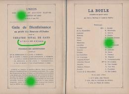 GENT GAND Théâtre Royal 1929 - Programmi