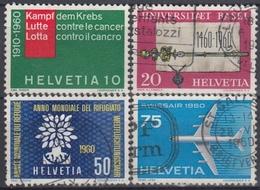 SUIZA 1960 Nº 639/42 USADO - Suiza