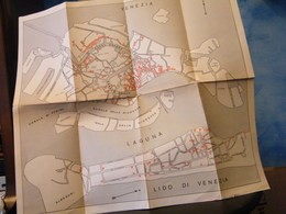 MONDOSORPRESA, (LB20) MAPA CARTOGRAFICA LIDO DI VENEZIA - Carte Topografiche