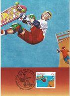 Australia , 1990 , Maxicard , Skateboard , Skateboarding ,  Stationery - Skateboard