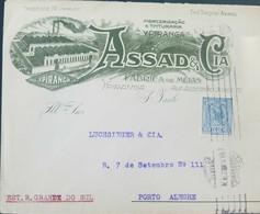 O) 1922 BRAZIL, LIBERTY HEAD -SC- 211-A70 200r - SAO PAULO CLOTHING ADVERTISING, MERCHANDISING AND DYEING-MEDIA FACTORY - Brazil