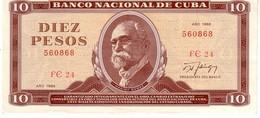Cuba P.104  10  Pesos 1988  Xf - Cuba