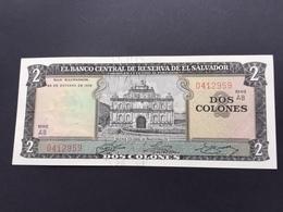 SALVADOR P116A 2 COLONNES 24.10.1972 UNC - El Salvador