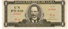 Cuba P.102  1  Peso1972 Au - Cuba