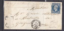 FRANCE 14  DE ST SAUVEUR S DOUVE  TAXEE POUR TIMBRE DEJA UTILISE SANS COURRIER - 1849-1876: Classic Period