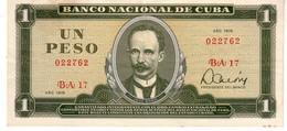 Cuba P.102  1  Peso  1979 Au - Cuba