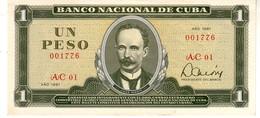 Cuba P.102  1  Peso  1981 Unc - Cuba