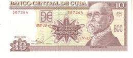 Cuba P.117 10 Pesos 2014 Unc - Cuba