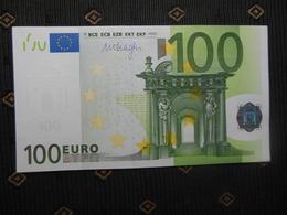 """100 EURO """" N """" F012 C4, AUSTRIA ,DRAGHI, AUNC - 100 Euro"""