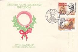 INSTITUTO POSTAL DOMINICANO INPOSDOM. AERICA UPAEP, MUJERES DESTACADAS. OBLITERACION 1998 REP DOMINICANA- BLEUP - Dominicaanse Republiek