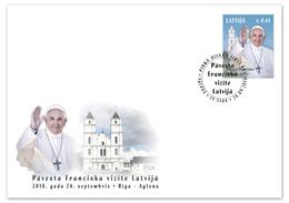Latvia ,Letland   2018  Pope Francis Visit To Latvia  FDC - Popes