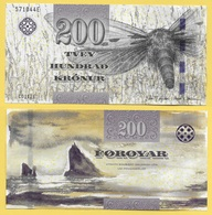 Faroe Islands 200 Kronur P-31 2011 UNC - Isole Faroer