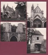 200918 - 4 PHOTOS 1960 - 55 VAUCOULEURS Chapelle Et Porte De France - France