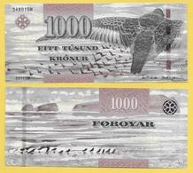 Faroe Islands 1000 Kronur P-33 2011 UNC - Isole Faroer