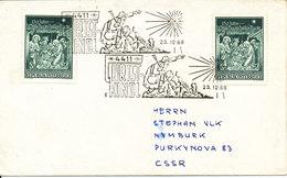 Austria Cover 23-12-1969 Christkindl Sent To Czechoslovakia - 1945-.... 2nd Republic