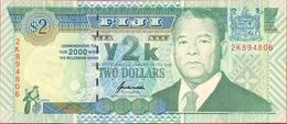 """Fiji 2 Dollars 2000 UNC P- 102 < """"MIllennium"""" Commemorative Issue - Figi"""