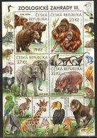 CZECH REPUBLIC, 2018, MNH, ZOOS, ELEPHANTS, HIPPOS, BEARS, PRIMATES, MONKEYS, ORANG UTANS, MONKEYS, BIRDS, FROGS, SLT - Bears