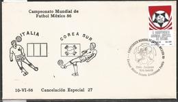 J) 1983 MEXICO, ITALY-SOUTH KOREA, BALL, SPECIAL CANCELLATION, II WORLD YOUTH FOOTBALL CHAMPIONSHIP, FDC - Mexico