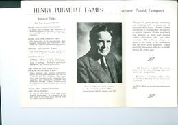Henry Purmort Eames Lecturer, Pianist, Composer . California. Musical Talks 1949)1950 - Musique & Instruments