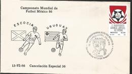 J) 1983 MEXICO, SCOTLAND-URUGUAY, BALL, SPECIAL CANCELLATION, II WORLD YOUTH FOOTBALL CHAMPIONSHIP, FDC - Mexico