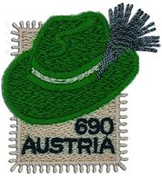 Austria - 2018 - Styrian Hat - Mint Embroidered Hat-shaped Stamp - 1945-.... 2ème République