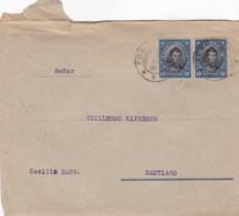 ENVELOPE CIRCULEE CHILE CIRCA 1950's- BLEUP - Chili