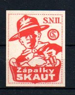 Czechoslovakia Matchbox Labels, 1918-1938., Skaut - Matchbox Labels