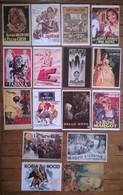 Lot De 18 Cartes Postales CINEMA /  Anciennes Affiches De Film - Affiches Sur Carte