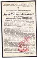 DP EZ Emma Neelemans - Zr. Soeur Mélanie Des Anges ° Eeklo 1863 † Namur 1923 - Devotion Images