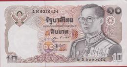 Thailand 10 Baht Bankbiljet Banknote Billet - Thaïlande