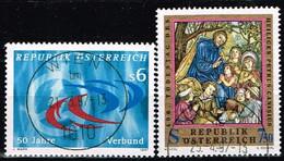 AUTRICHE / Oblitérés/Used/1997 - Energie Electrique / Religion - YVT N° 2043,2046 / MI.N°2214/2215 - 1991-00 Used