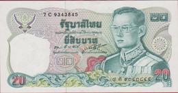 Thailand 20 Baht Bankbiljet Banknote Billet - Thaïlande