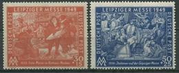 SBZ Allgemeine Ausgabe 1949 Leipziger Messe 230/31 Postfrisch - Zone Soviétique