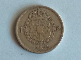 Suede 1 Krone 1946 Argent Silver - Suède