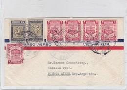 AIRMAIL ENVELOPE CIRCULEE ECUADOR TO ARGENTINE CIRCA 1950's MIXED STAMPS- BLEUP - Equateur