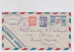 AIRMAIL ENVELOPE CIRCULEE GUATEMALA TO USA CIRCA 1948 AUTRE MARQUE MIXED STAMPS- BLEUP - Guatemala
