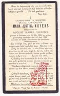 DP Maria J. Nuyens ° Lichtaart Kasterlee 1869 † 1937 X Aug. K. Dierckx - Devotion Images