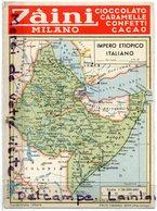 - Carte Géographique - Impero Etiopico Italiano,  Ethiopie, Datée 1936, Grand Format, Rare, Pub Zaini, TTBE, Scans. - Ethiopia