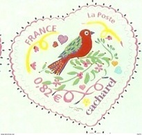 HB-P 065 France 4 Timbres Adhésifs 3748B Saint-Valentin Coeur 2005 De La Maison De Couture Cacharel Issus De Feuille - Adhésifs (autocollants)