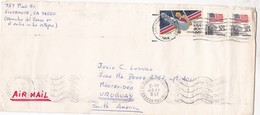 ENVELOPE CIRCULEE USA TO URUGUAY CIRCA 1948 AIR MAIL- BLEUP - United States