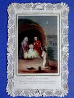 IMAGE PIEUSE CANIVET  ED. LETAILLE   NOEL CRÈCHE VISITE A JÉSUS - Devotion Images