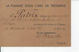 LA FLAMME SOUS L'ARC DE TRIOMPHE Le Dimanche 17 Mai 1931 - Unclassified