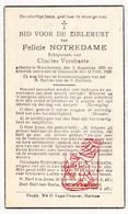 DP Felicie Notredame ° Noordschote Lo Reninge 1878 † Diksmuide 1943 X Ch. Verstraete - Devotion Images