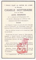 DP Camille Nottebaere ° Aalbeke Kortrijk 1877 † Mouscron Moeskroen 1946 X A. Bourgois - Devotion Images